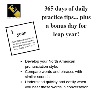 The Pronunciation Practice Calendar Details